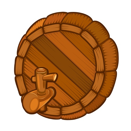 wood full face barrel with tap
