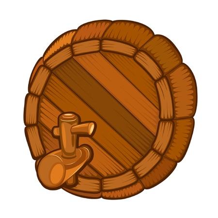rhum: wood full face barrel with tap