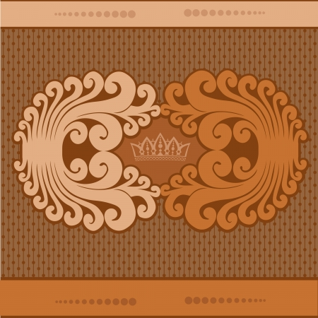 vintage background with pattern and crown Stock Vector - 18181218