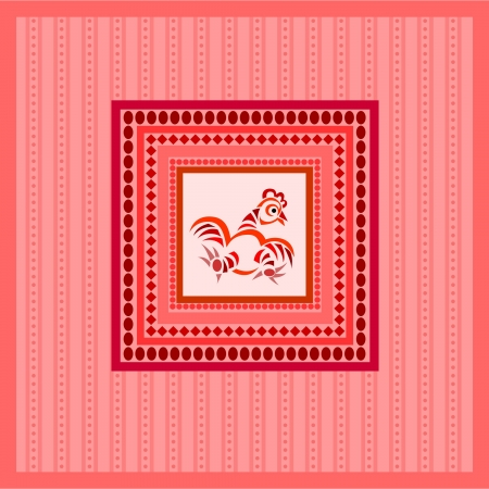 red easter background with cock