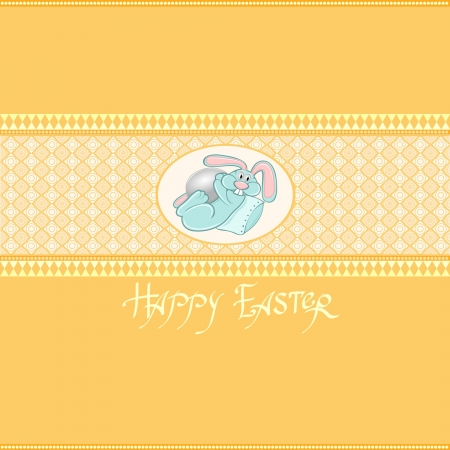 yellow easter rabbit background Vector