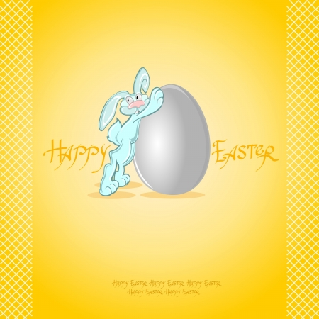 yellow easter rabbit background