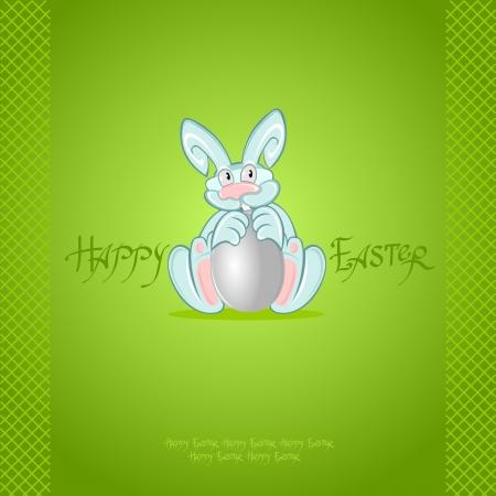 green easter rabbit background Vector