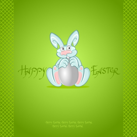 green easter rabbit background