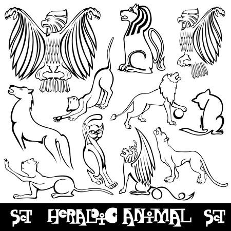 heraldic silhouette animal
