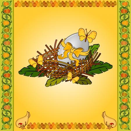 easter egg in nest background