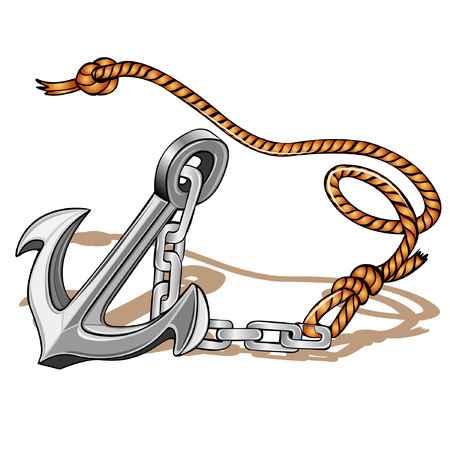 anchor with rope icon