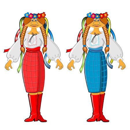 ukrainian girl with national traditional cloth