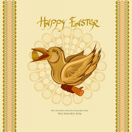 easter bird with egg background