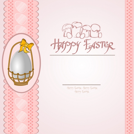 easter egg into basket background Illustration