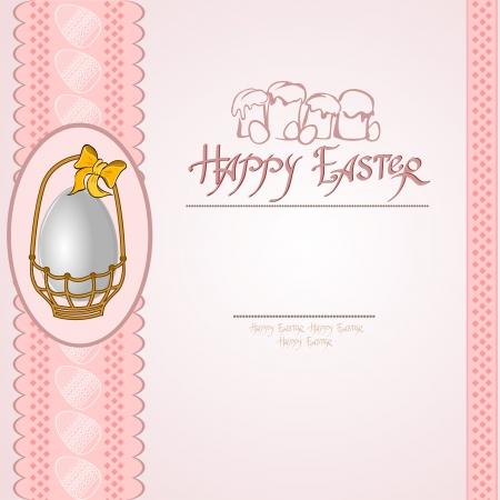 easter egg into basket background Vettoriali