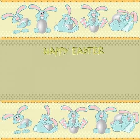 easter rabbit egg background Vettoriali