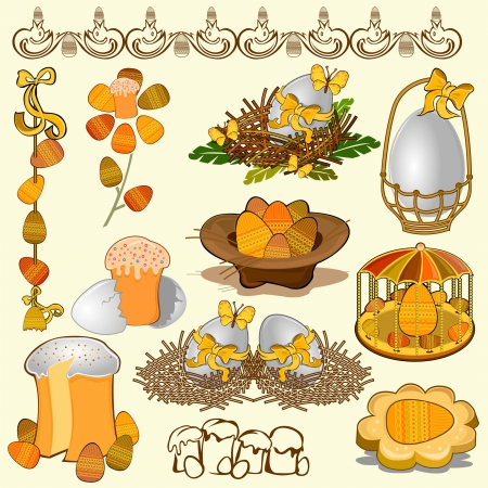 adn: huevo de Pascua adn conjunto de recopilaci�n torta