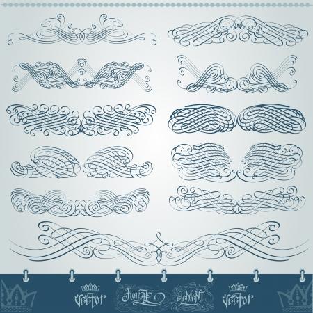 royal vintage element monogram set