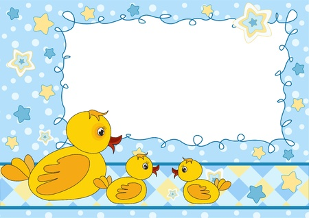 butterfly border: Children`s photo frame. Vector illustration.