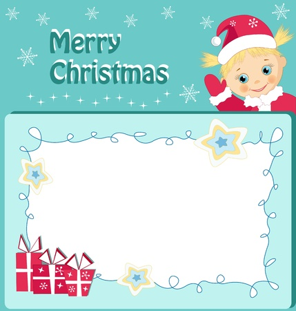Children`s frame. Vector illustration. Vector