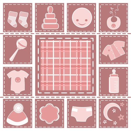 scrapbooking: Baby collection. Design element. Vector illustration. Illustration