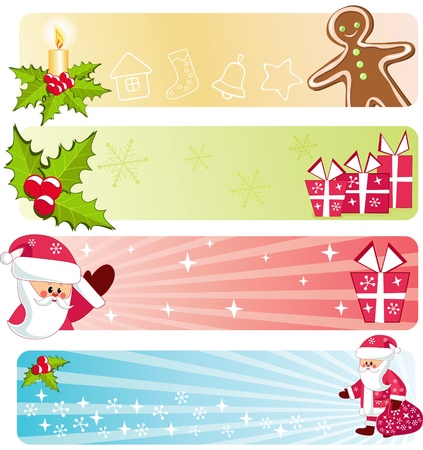 Christmas banners collection. Vector illustration. Vector