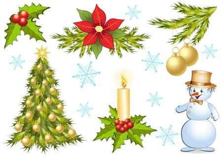 Christmas collection. Design elements. Vector. Vector