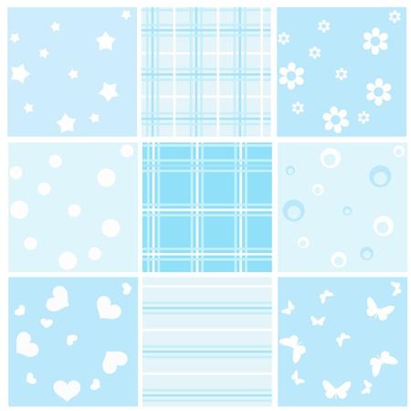 Réglez bébé bleu transparent. Vector illustration. Vecteurs