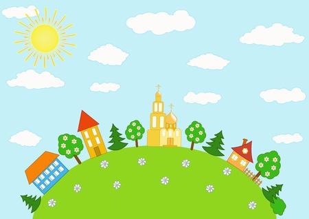 Baby landscape. Vector  illustration. Stock Vector - 11647933