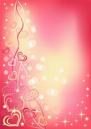 Abstract valentine`s background. Vector illustration. Illustration