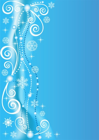 Winter blue background. Vector  illustration. Vector