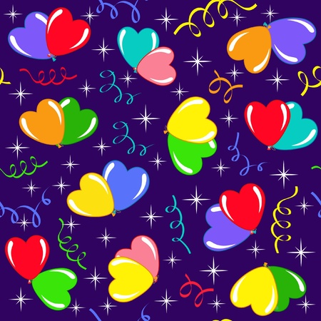 colored backgrounds: Seamless with balloon. Vector  illustration. Illustration