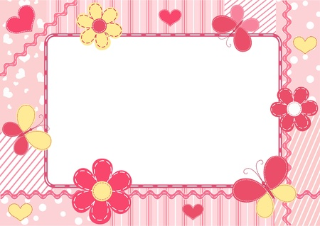 Children`s photo frame. Vector illustration.