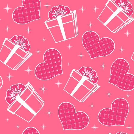 Seamless with hearts. Vector illustration. Vector