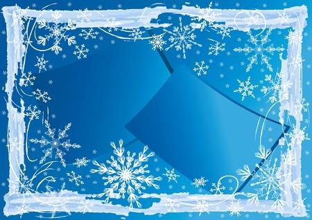 Winter  background. Vector  illustration. Vector