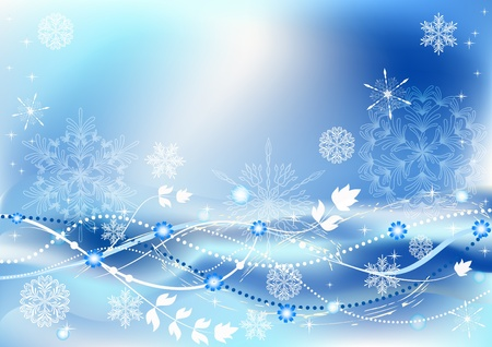 Winter blue background. EPS10. Vector  illustration. Vector