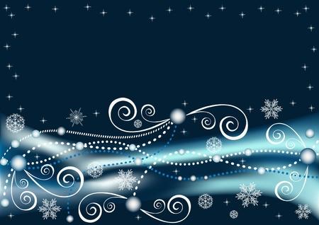 Winter blue background. Vector  illustration. Stock Vector - 11647801