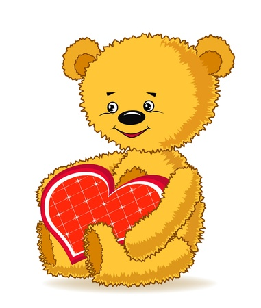 Cartoon funny bear. Vector illustration. Vector