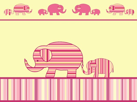 Mother elephant and baby elephant. Vector illustration. Vector