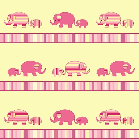 Mother elephant and baby elephant. Vector illustration. Stock Vector - 11647842