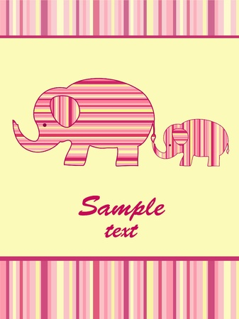 Mother elephant and baby elephant. Vector illustration. Stock Vector - 11647839
