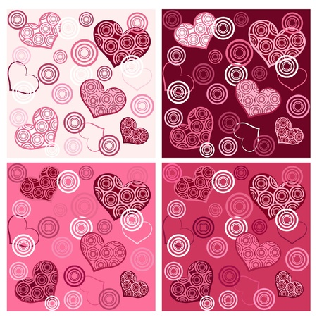 Set valentine`s seamless. Vector illustration. Illustration