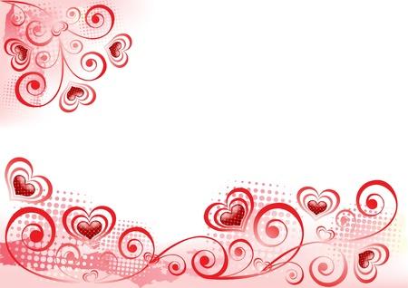 Valentine`s background.  Design elements. Vector illustration. Illustration