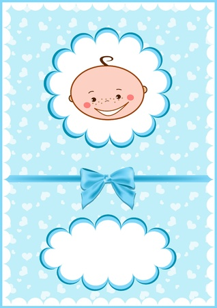 baby announcement: Cheerful babies card. Vector illustration. Illustration