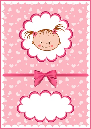 Cheerful babies card. Vector illustration. Vector