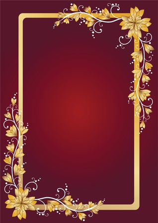Congratulation card. Floral frame. Vector illustration. Vector