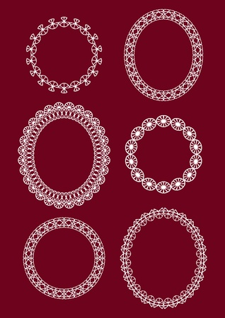 Lace white frame. Vector illustration. Vector