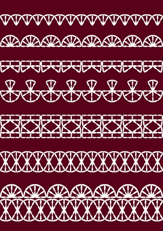 ornamentation: Vector lace. Set. Vector illustration.