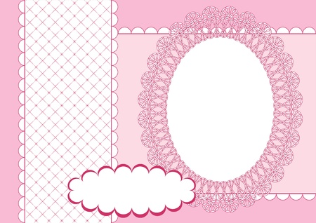 Album page for scrapbook. Vector illustration. Vector