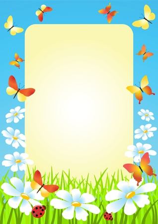 Meadow. Summer morning. Vector illustration. Vector