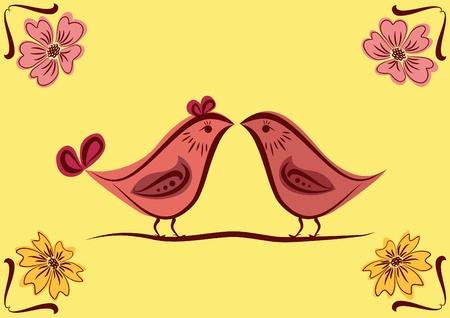 Ornamento Nacional con las aves. Ilustración del vector. Foto de archivo - 12195537
