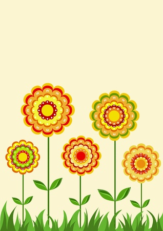 Floral ornament. Background. Vector illustration. Vector