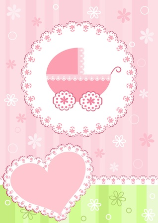 baby girls: Baby arrival card.