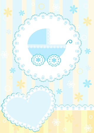 Baby arrival card.  Vector